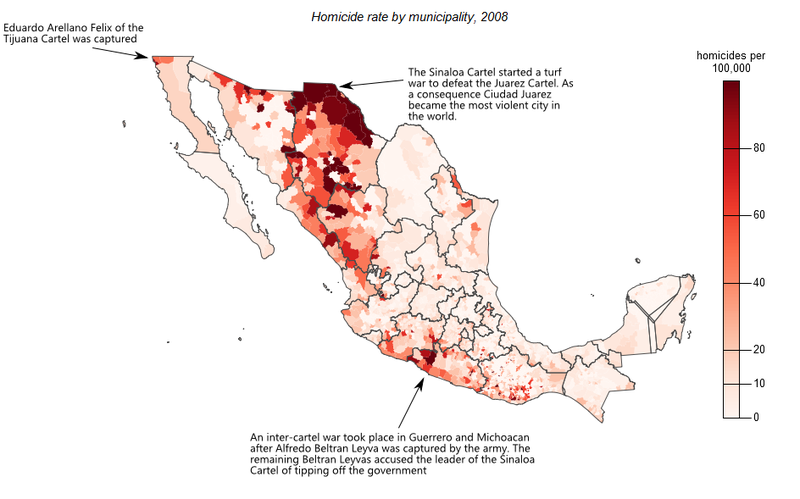 Drug related murders in Mexico
